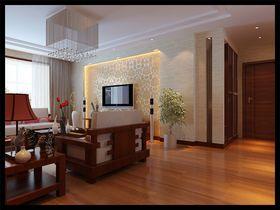 富裕型130平米三室两厅中式风格客厅设计图
