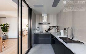 140平米三室兩廳現代簡約風格廚房設計圖