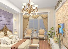 经济型100平米三室一厅法式风格卧室设计图
