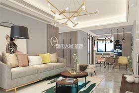 130平米三室兩廳北歐風格客廳圖