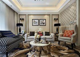 130平米三室一厅欧式风格客厅沙发图片