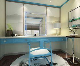 120平米三室两厅中式风格书房图片