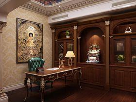 80平米别墅法式风格书房效果图