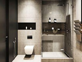 70平米现代简约风格卫生间图片