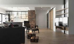 富裕型140平米三室两厅混搭风格客厅装修效果图