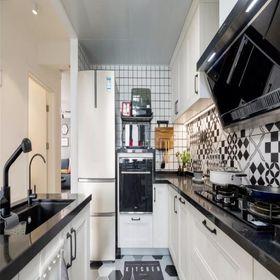 90平米三混搭风格厨房效果图