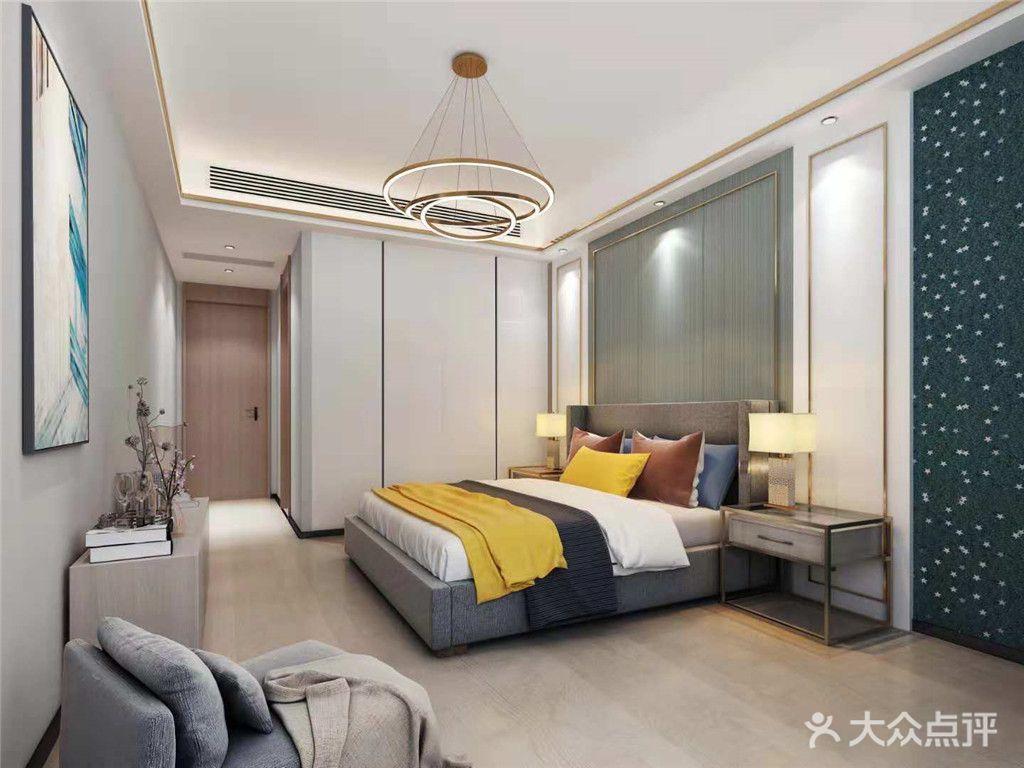 90平米北欧风格卧室设计图