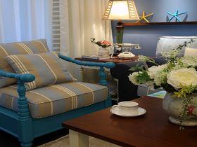 120平米三室一厅地中海风格客厅设计图