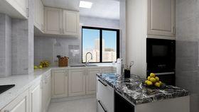 110平米三室一廳現代簡約風格廚房設計圖