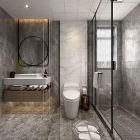 110平米三室兩廳現代簡約風格衛生間裝修效果圖
