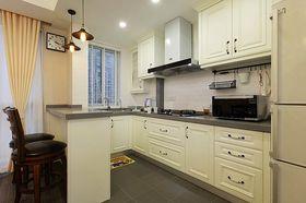 110平米三室两厅美式风格厨房图片大全