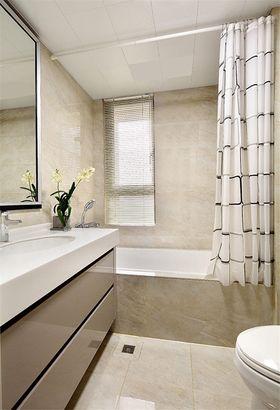 富裕型120平米三室一厅现代简约风格卫生间图片大全