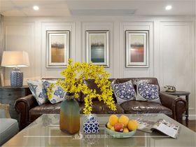 130平米三室两厅美式风格客厅装修效果图