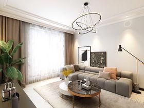 90平米三室两厅混搭风格客厅图片大全