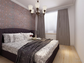 80平米混搭风格卧室设计图