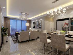 富裕型130平米三室两厅现代简约风格餐厅图片大全