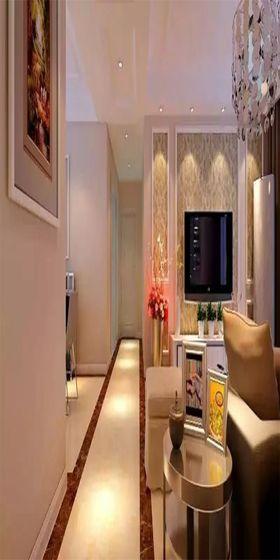 经济型110平米一室一厅现代简约风格客厅装修效果图