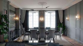120平米三室一厅欧式风格餐厅装修效果图