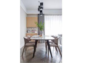140平米三室一厅现代简约风格餐厅装修效果图