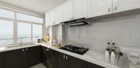140平米三室一厅现代简约风格厨房欣赏图