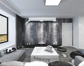 130平米现代简约风格客厅装修图片大全