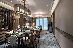 130平米三室一厅中式风格餐厅图片大全