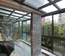 140平米三室三厅现代简约风格阳台欣赏图