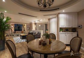 富裕型130平米三室两厅美式风格餐厅图片大全