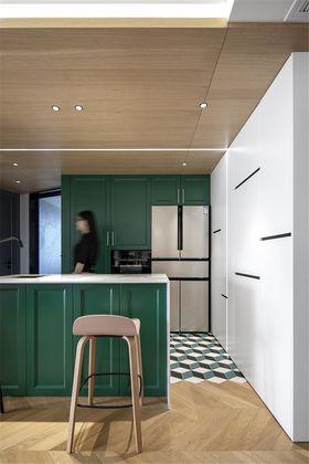 130平米三室两厅混搭风格厨房设计图
