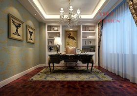 140平米三室两厅法式风格书房装修效果图