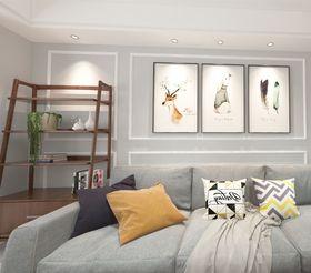 70平米三室一廳現代簡約風格客廳效果圖