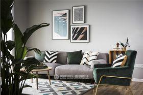 110平米复式北欧风格客厅效果图