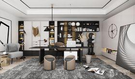 140平米別墅現代簡約風格書房裝修案例
