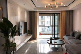 90平米三室一厅现代简约风格客厅图