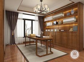 130平米四室两厅中式风格书房欣赏图
