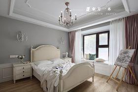 豪华型80平米三室两厅法式风格卧室装修案例