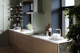 70平米现代简约风格厨房图