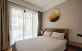 90平米三室两厅混搭风格卧室设计图