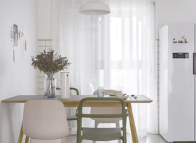 富裕型120平米三室两厅中式风格餐厅效果图
