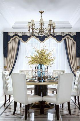 110平米三室兩廳法式風格餐廳欣賞圖