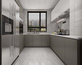 130平米三室兩廳現代簡約風格廚房圖