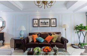 120平米三室一厅现代简约风格客厅图