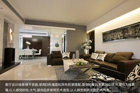 富裕型140平米四室两厅现代简约风格客厅欣赏图