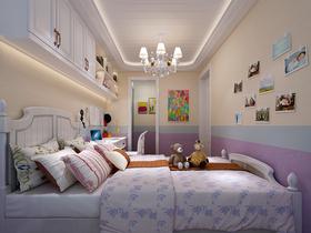 80平米三室兩廳歐式風格兒童房圖片大全