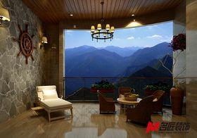 140平米四室两厅中式风格阳台图