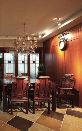 豪华型100平米三室两厅中式风格书房装修图片大全