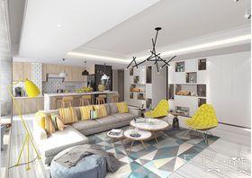 140平米三室一厅现代简约风格客厅装修效果图