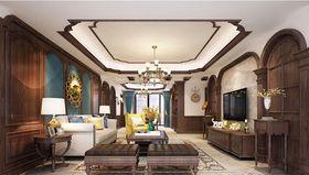 140平米四室兩廳美式風格客廳裝修圖片大全