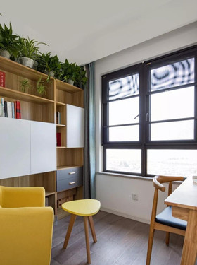 100平米三室两厅美式风格书房装修效果图