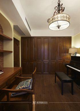 90平米三室两厅美式风格书房效果图